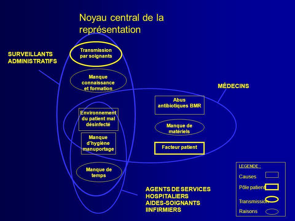 Noyau central de la représentation