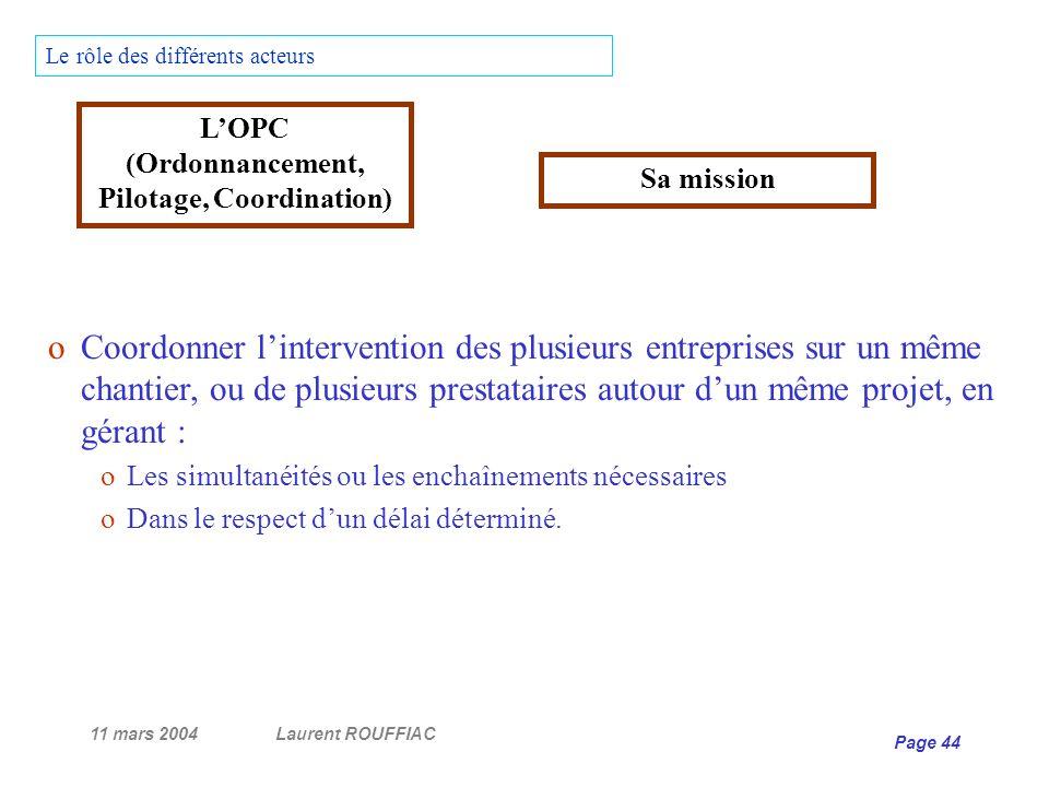 L'OPC (Ordonnancement, Pilotage, Coordination)