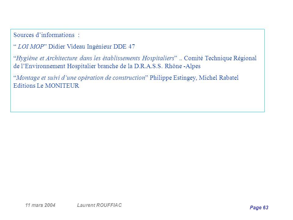 Sources d'informations : LOI MOP Didier Videau Ingénieur DDE 47