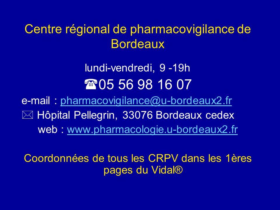 Centre régional de pharmacovigilance de Bordeaux