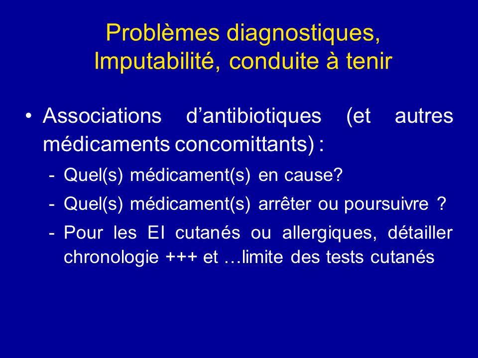 Problèmes diagnostiques, Imputabilité, conduite à tenir