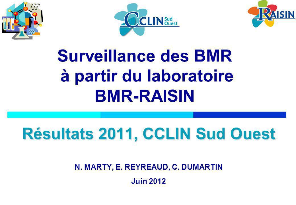Surveillance des BMR à partir du laboratoire BMR-RAISIN