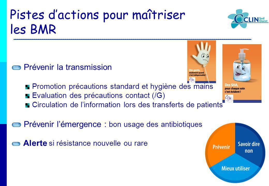 Pistes d'actions pour maîtriser les BMR