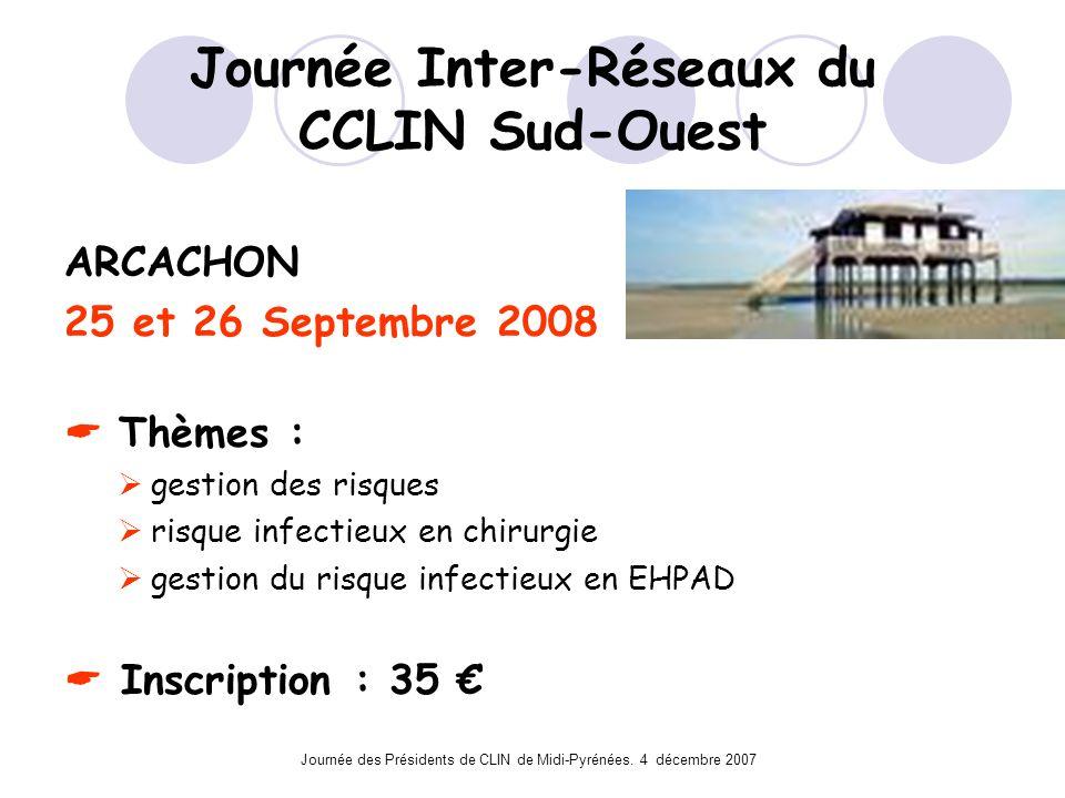Journée Inter-Réseaux du CCLIN Sud-Ouest