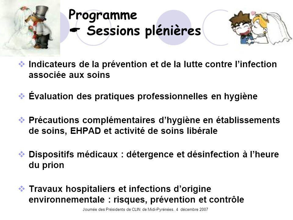 Programme  Sessions plénières