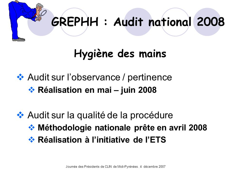 GREPHH : Audit national 2008