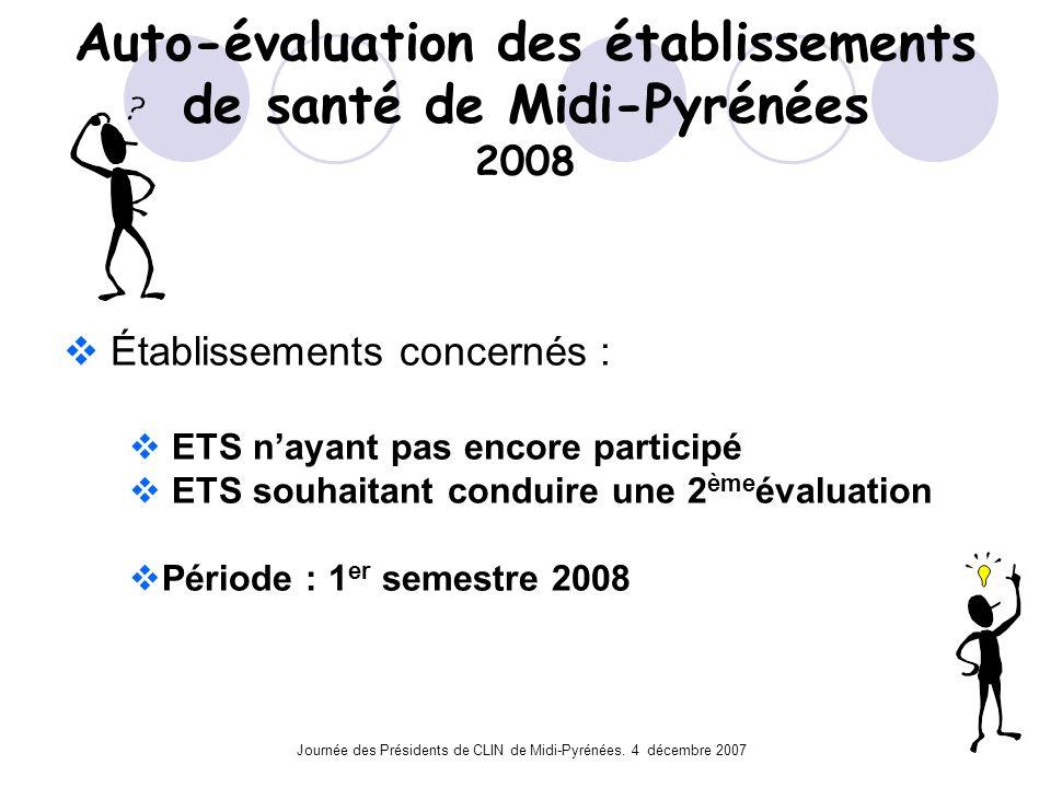 Auto-évaluation des établissements de santé de Midi-Pyrénées 2008