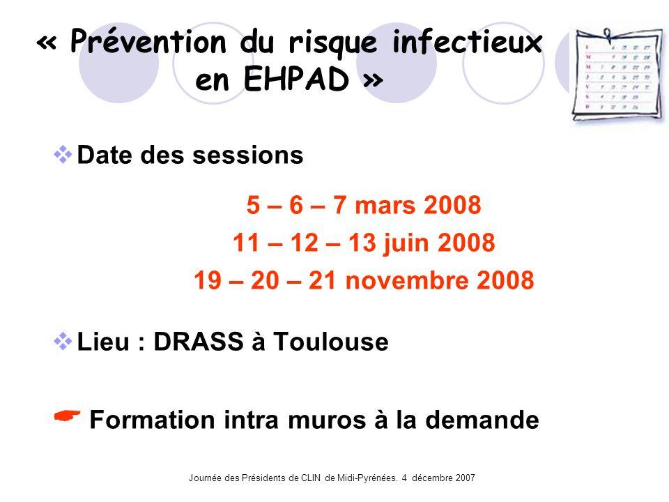 « Prévention du risque infectieux en EHPAD »