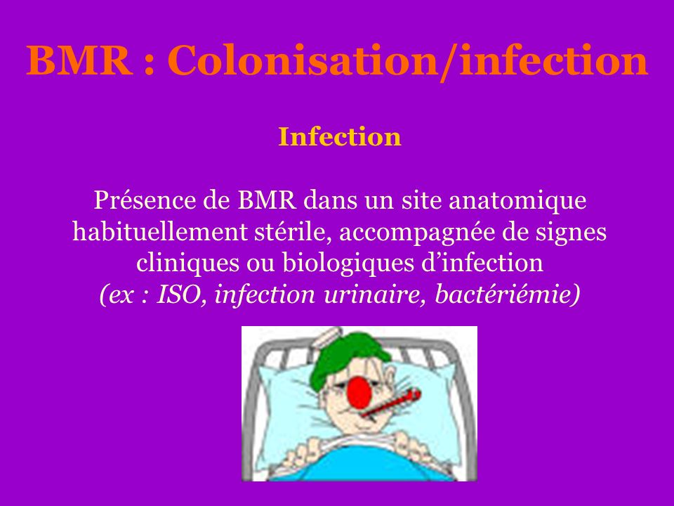 BMR : Colonisation/infection