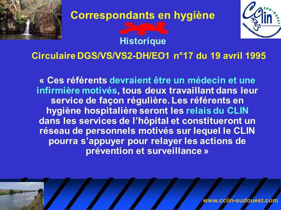 Circulaire DGS/VS/VS2-DH/EO1 n°17 du 19 avril 1995