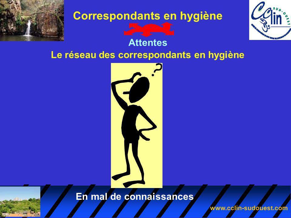 Correspondants en hygiène Le réseau des correspondants en hygiène