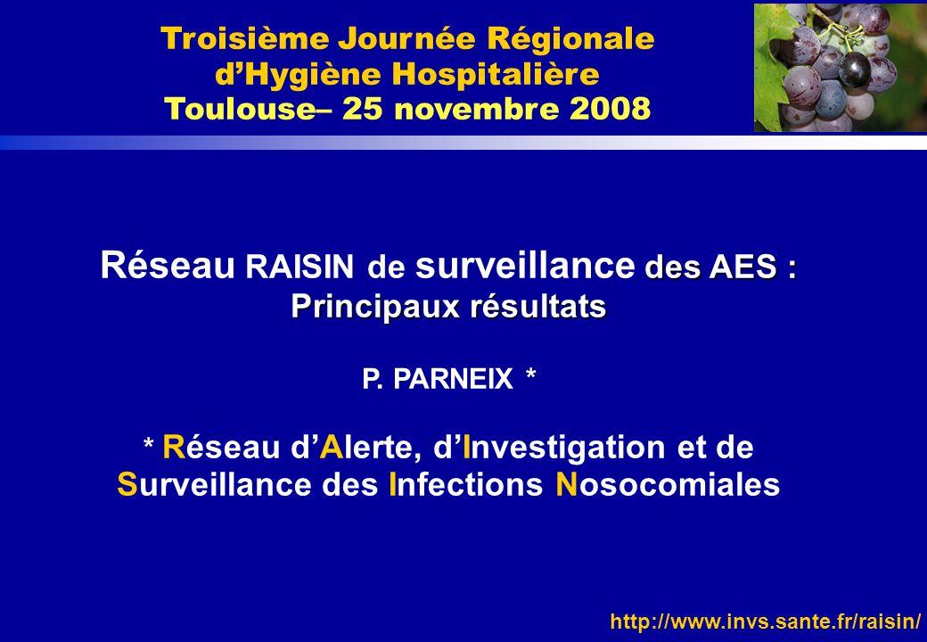 Troisième Journée Régionale d'Hygiène Hospitalière Toulouse– 25 novembre 2008
