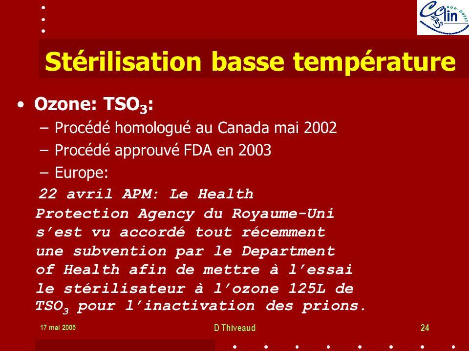 Stérilisation basse température