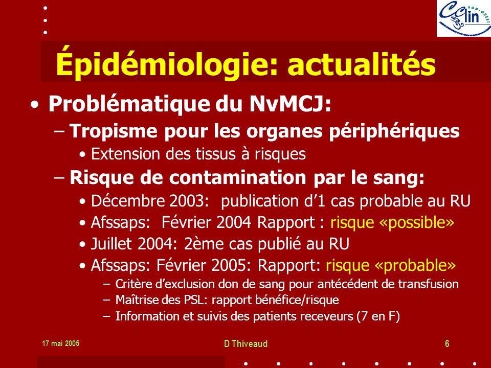 Épidémiologie: actualités