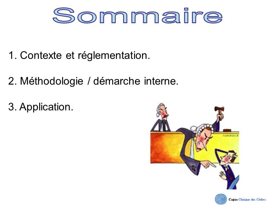 Sommaire 1. Contexte et réglementation.