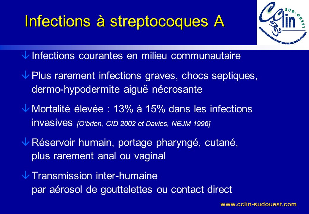Infections à streptocoques A