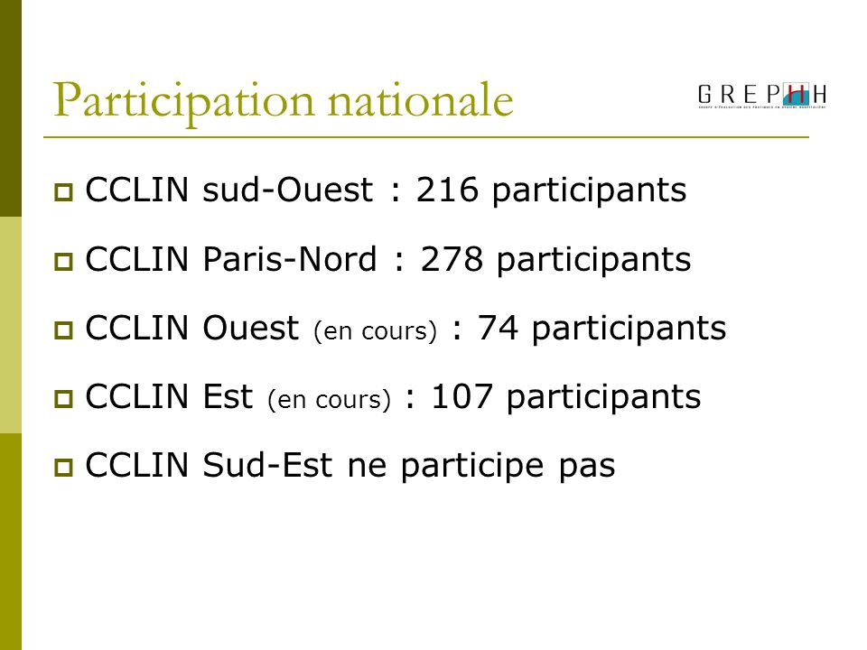 Participation nationale