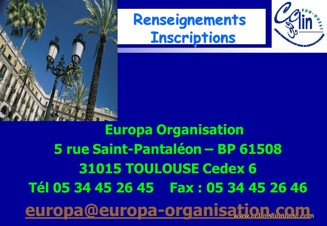 Renseignements Inscriptions