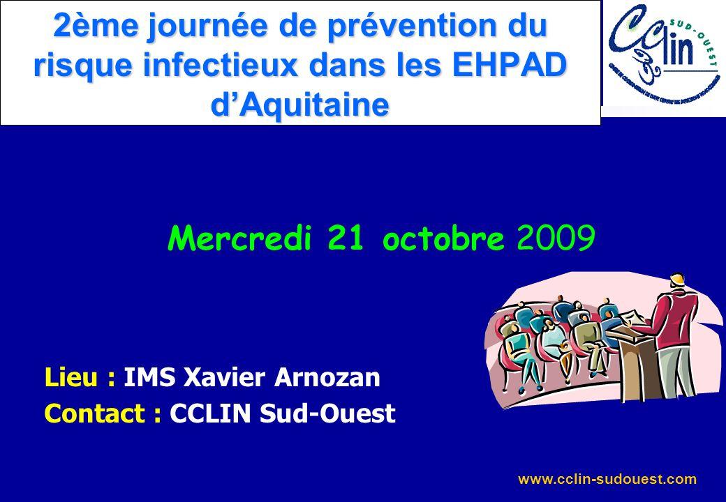 2ème journée de prévention du risque infectieux dans les EHPAD d'Aquitaine