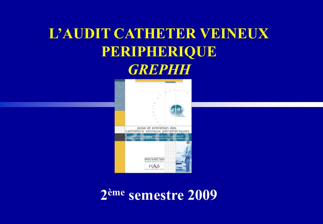 L'AUDIT CATHETER VEINEUX PERIPHERIQUE