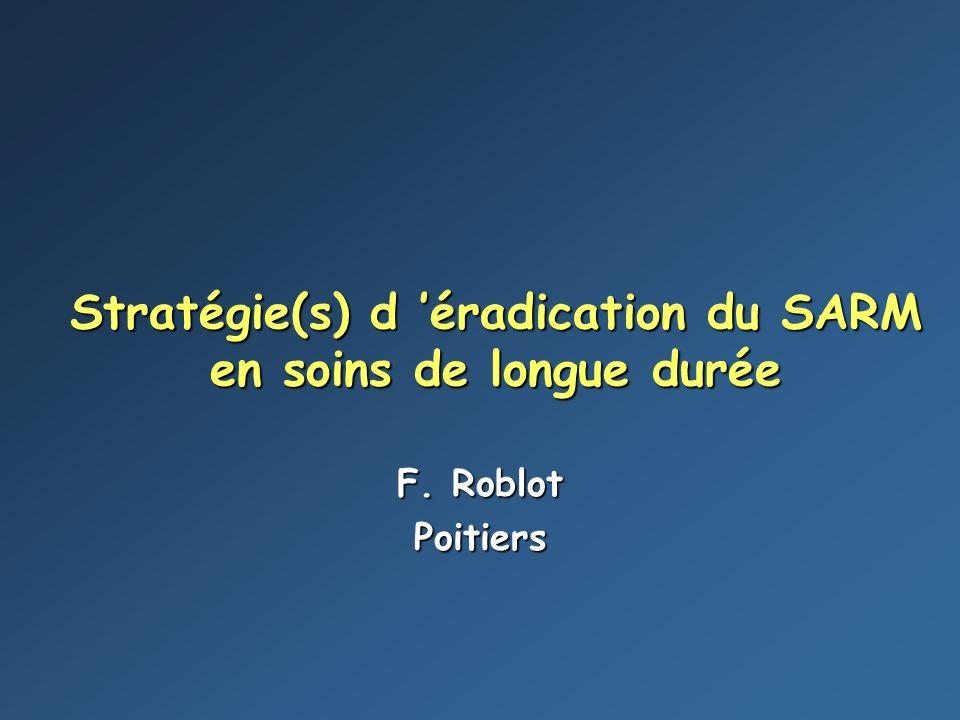 Stratégie(s) d 'éradication du SARM en soins de longue durée
