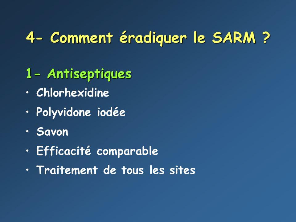 4- Comment éradiquer le SARM