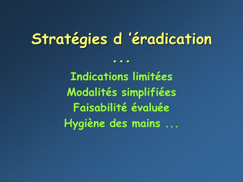 Stratégies d 'éradication ...