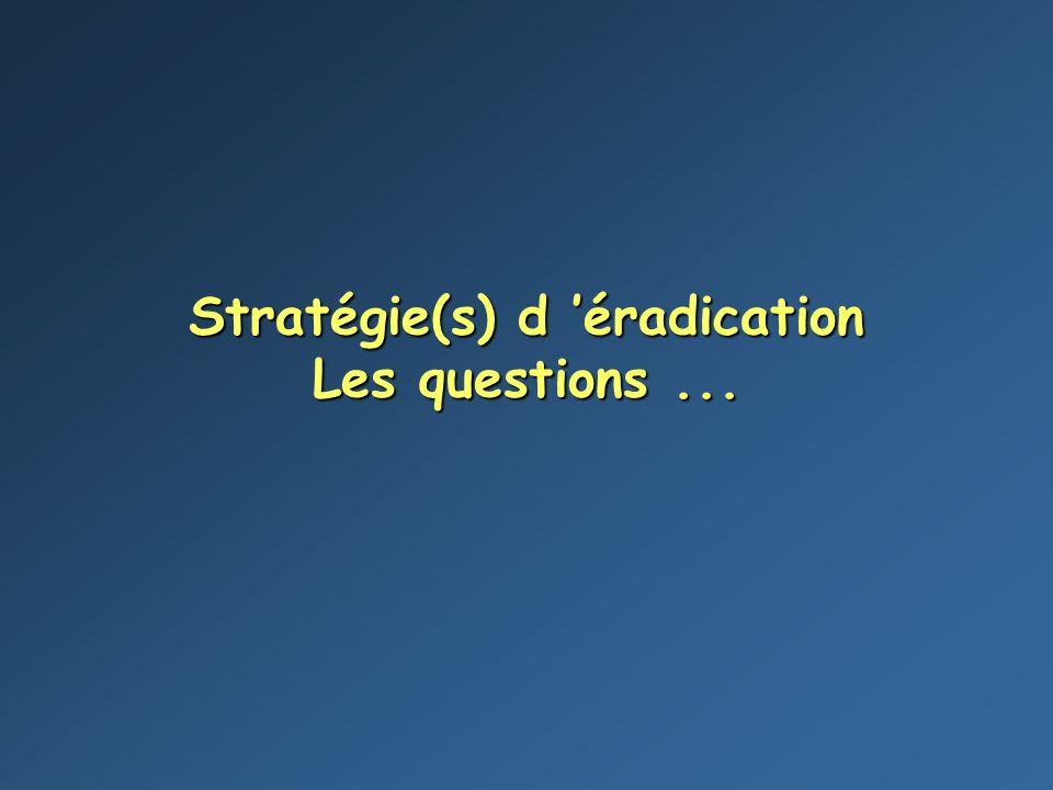Stratégie(s) d 'éradication Les questions ...