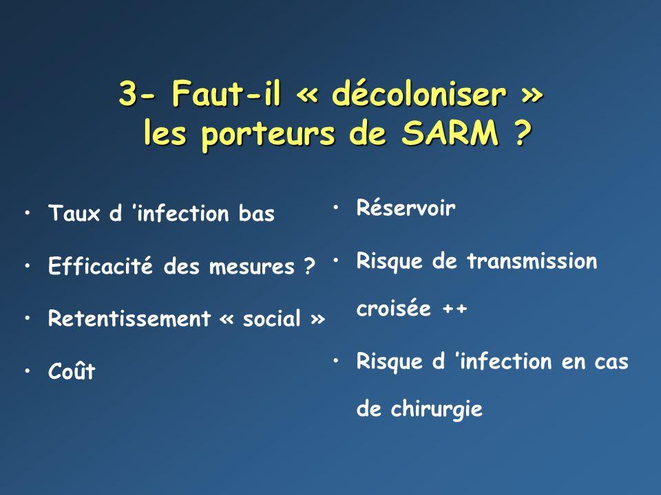 3- Faut-il « décoloniser » les porteurs de SARM