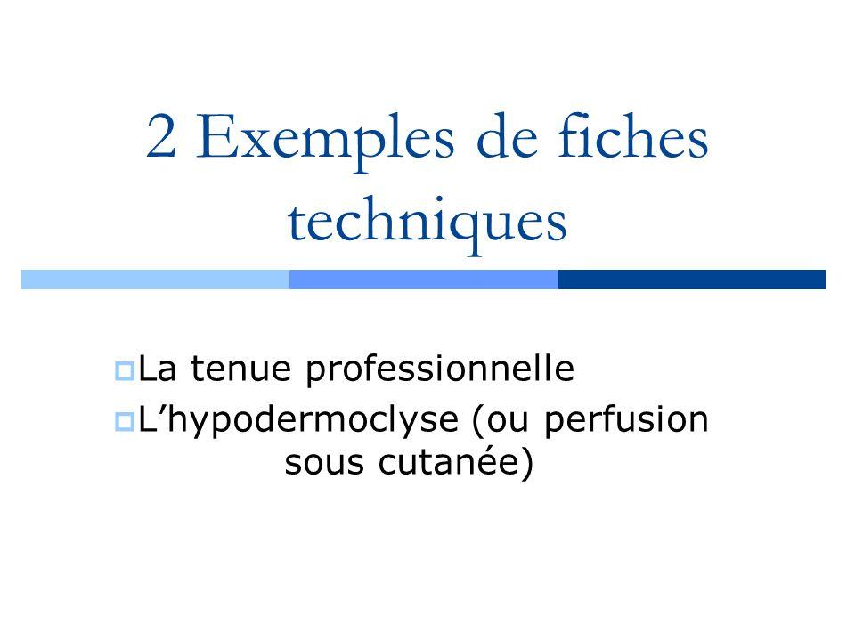 2 Exemples de fiches techniques