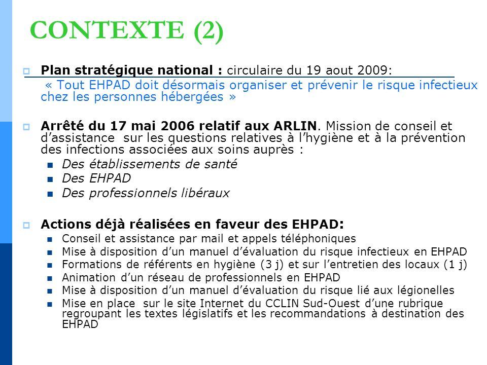 CONTEXTE (2) Plan stratégique national : circulaire du 19 aout 2009:
