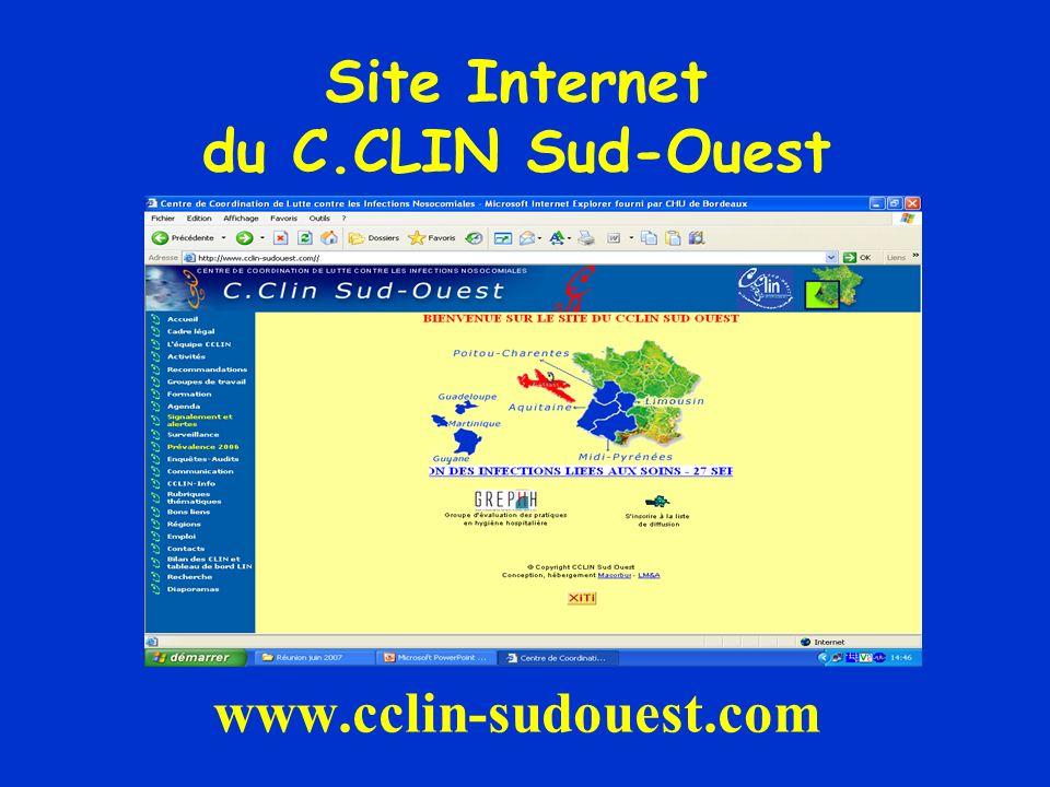Site Internet du C.CLIN Sud-Ouest www.cclin-sudouest.com