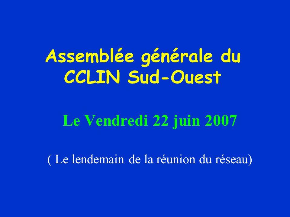 Assemblée générale du CCLIN Sud-Ouest