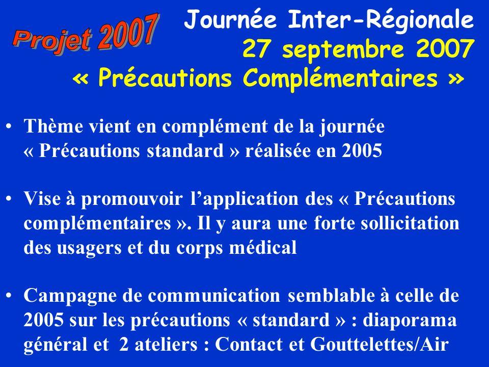 Projet 2007 Journée Inter-Régionale 27 septembre 2007 « Précautions Complémentaires »