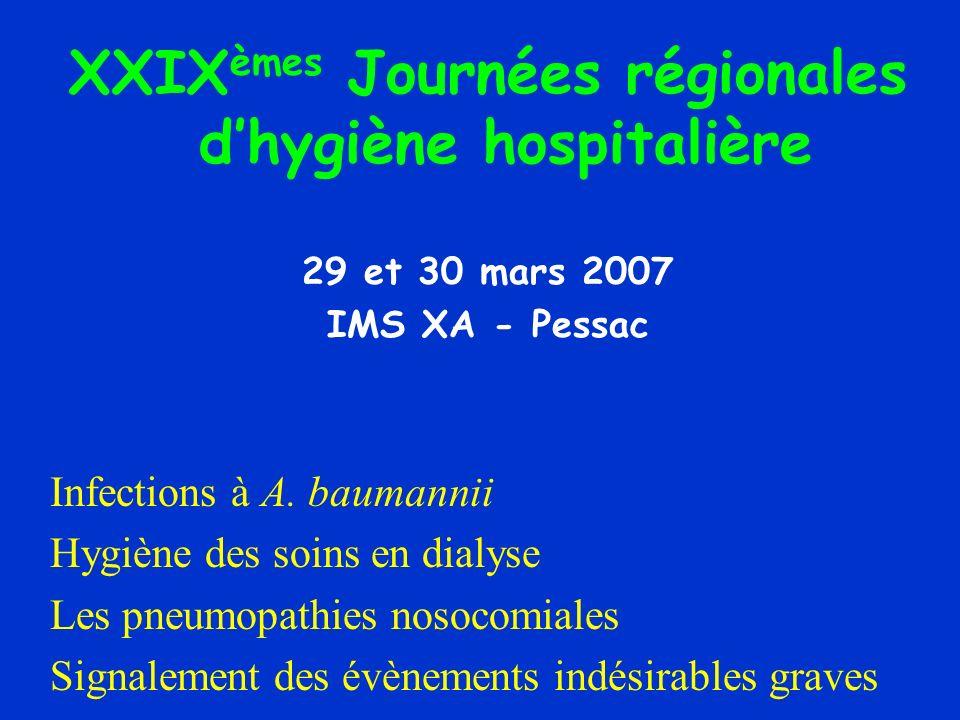 XXIXèmes Journées régionales d'hygiène hospitalière