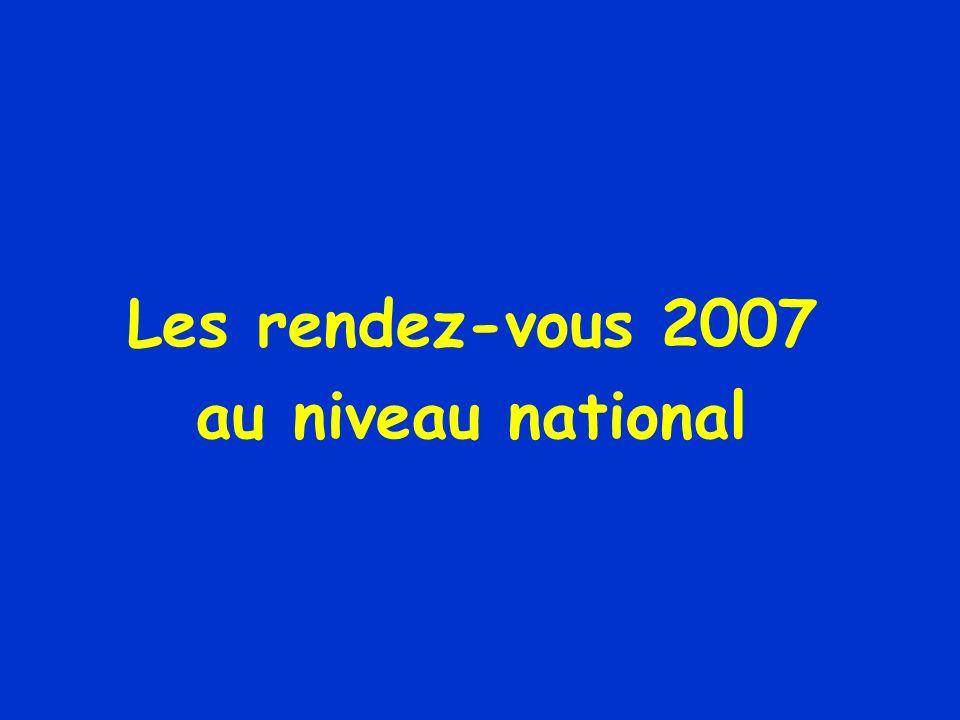 Les rendez-vous 2007 au niveau national