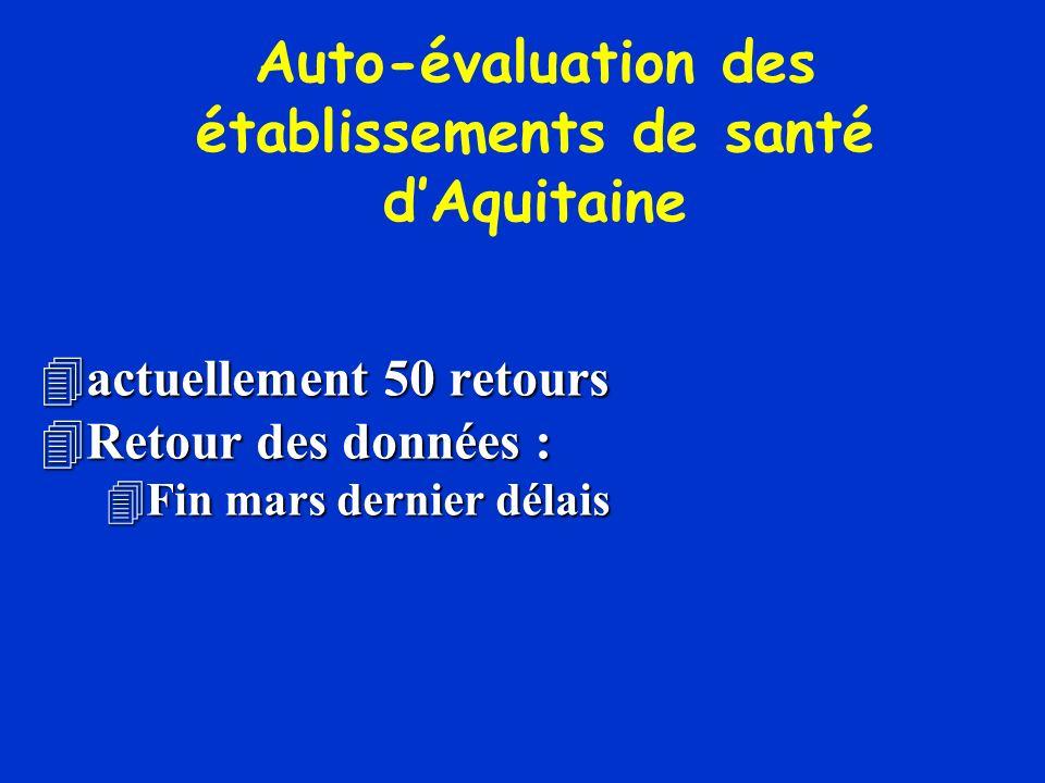 Auto-évaluation des établissements de santé d'Aquitaine
