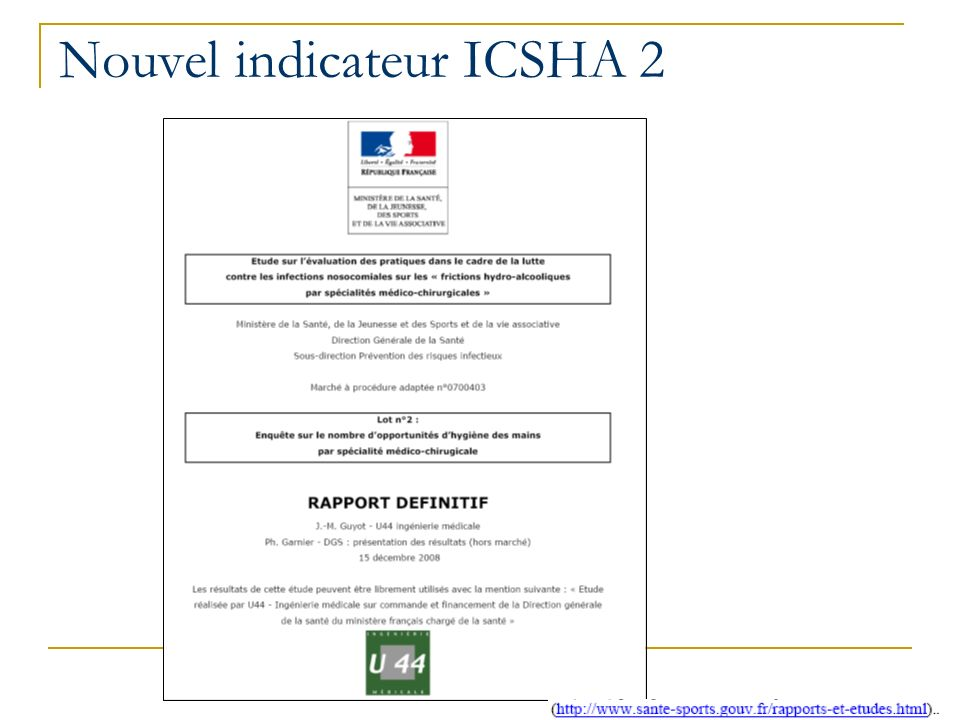 Nouvel indicateur ICSHA 2