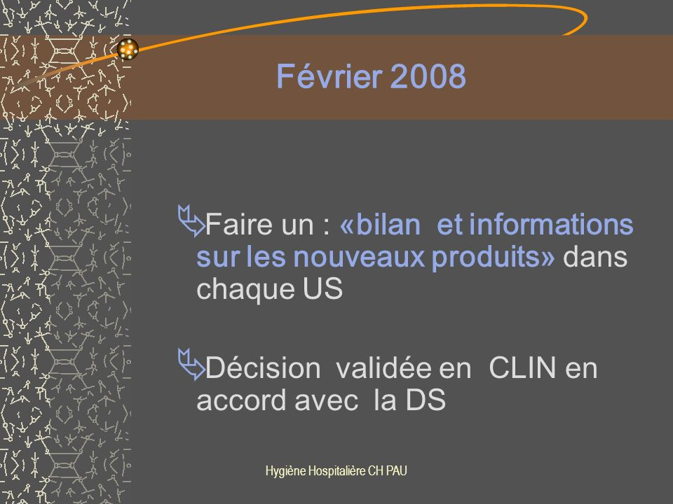 Hygiène Hospitalière CH PAU