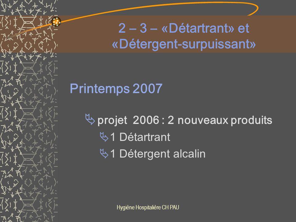 2 – 3 – «Détartrant» et «Détergent-surpuissant»