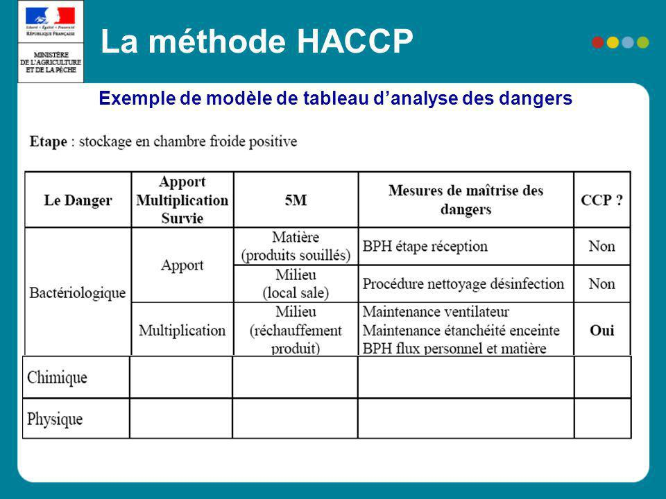 Exemple de modèle de tableau d'analyse des dangers