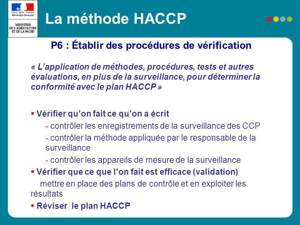 P6 : Établir des procédures de vérification