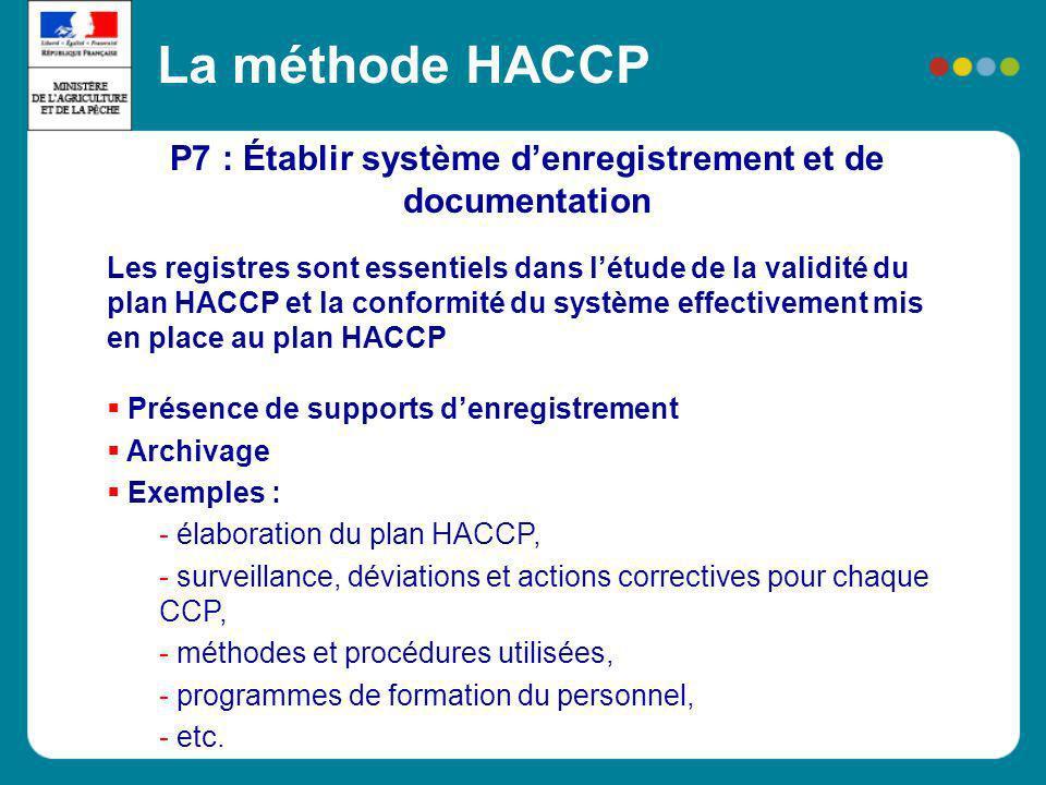 P7 : Établir système d'enregistrement et de documentation