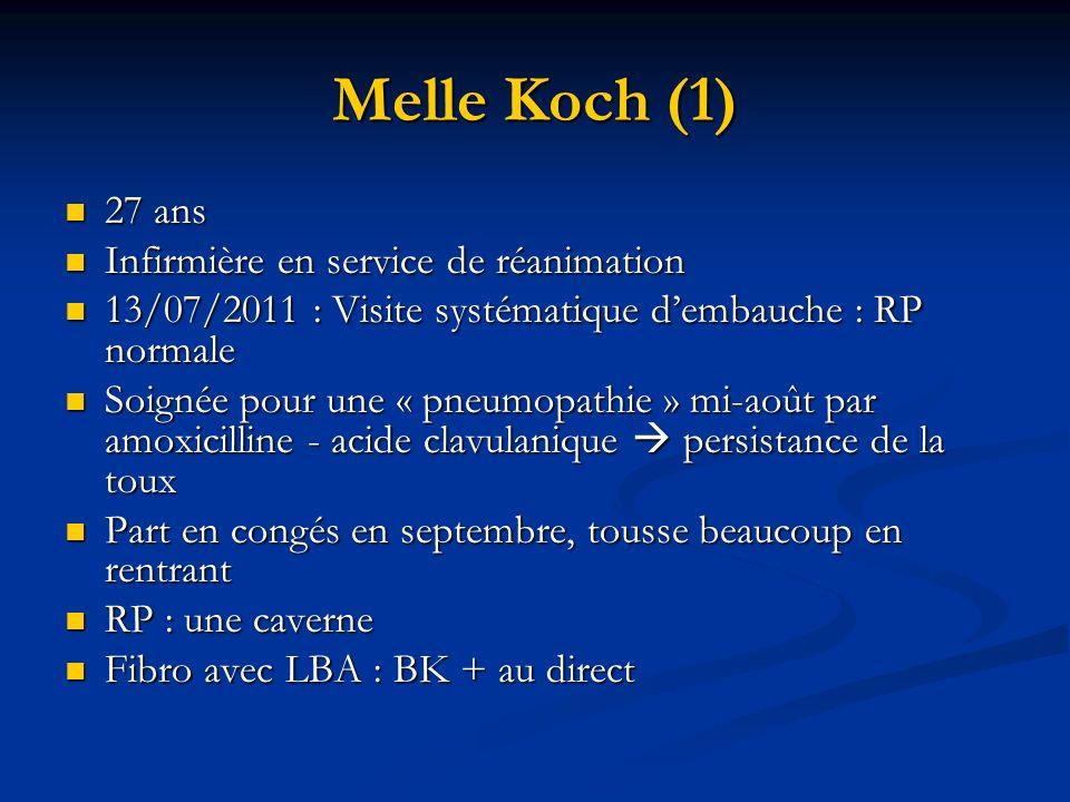 Melle Koch (1) 27 ans Infirmière en service de réanimation