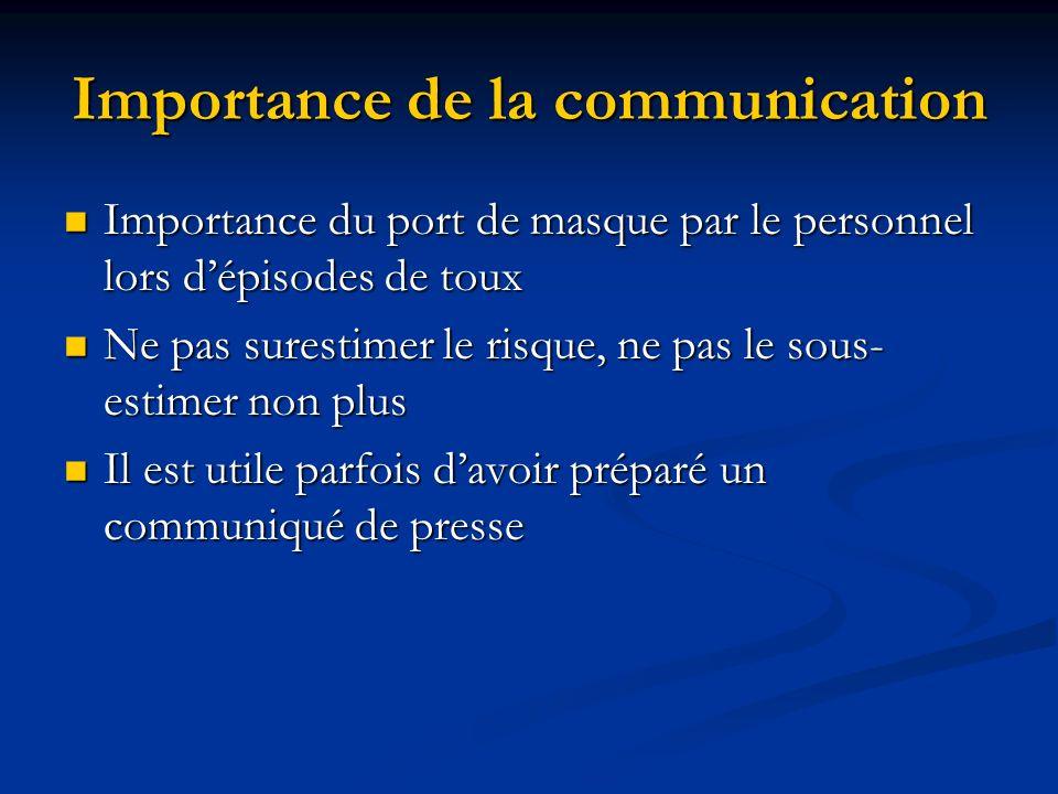 Importance de la communication