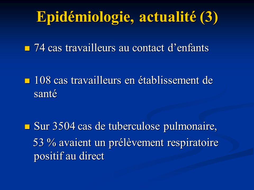 Epidémiologie, actualité (3)
