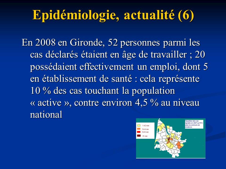 Epidémiologie, actualité (6)