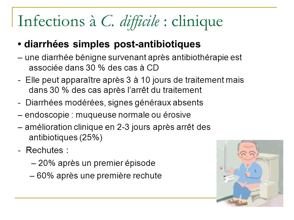 Infections à C. difficile : clinique