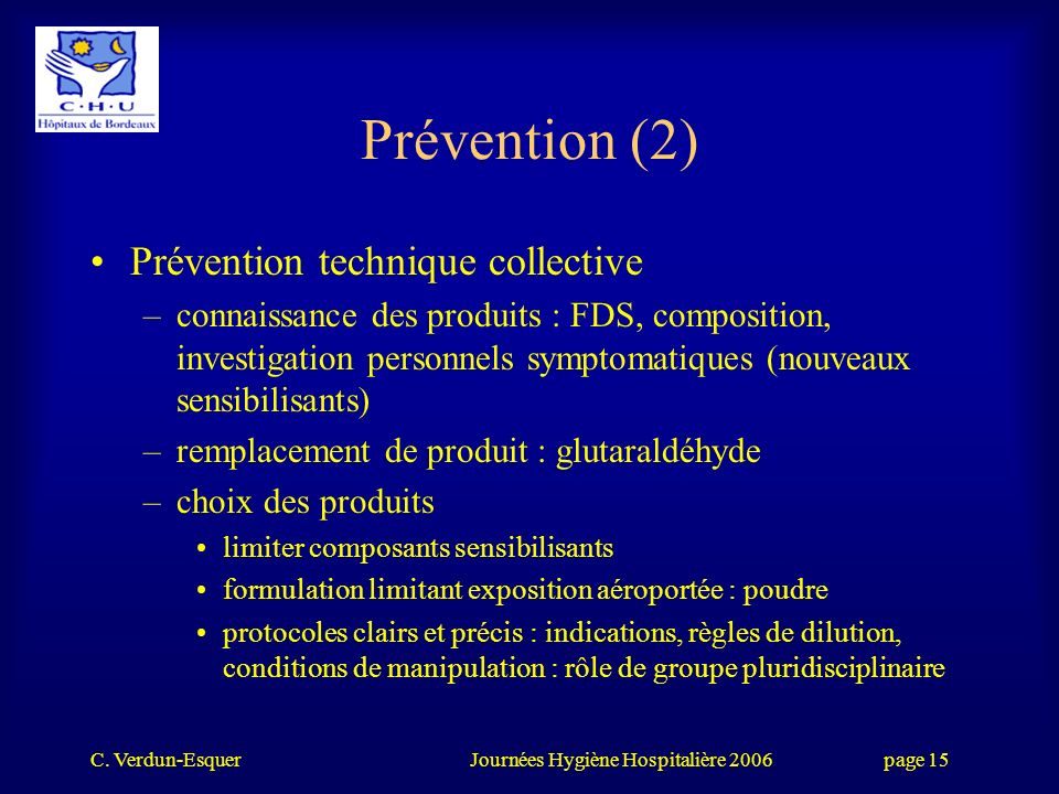 Prévention (2) Prévention technique collective