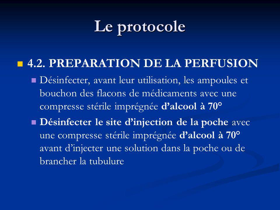 Le protocole 4.2. PREPARATION DE LA PERFUSION